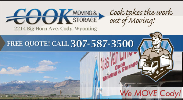 Cook Moving & Storage Movers Cody Wyoming Self Storage Warehouse Storage Vehicle Storage Corporate Relocation Business Movers Residential Moving Household Movers WY