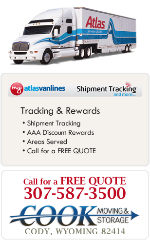 Atlas Van Lines Agent Movers Moving Cody Wyoming AAA discounts shipment tracking